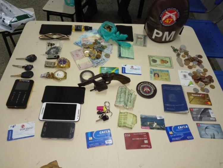 Material apreendido com Diego no momento da abordagem policial - Foto: Divulgação | SSP
