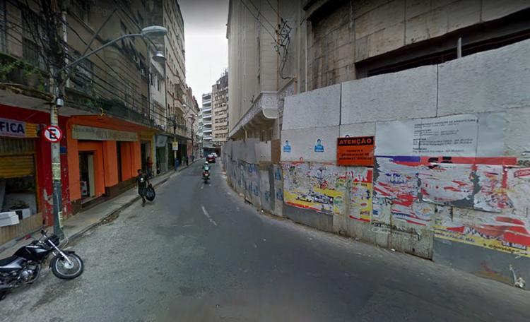 Na rua do Tesouro, a intervenção ocorre neste sábado, 21, ao meio-dia - Foto: Reprodução l Google Maps