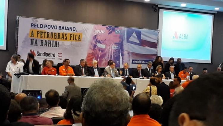 O ato é organizado pelo Sindicato dos Petroleiros da Bahia - Foto: Rosana Abreu | Cidadão Repórter
