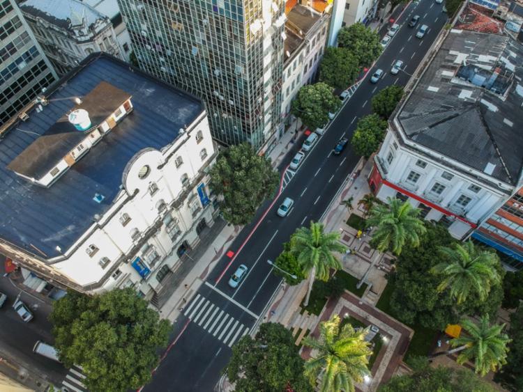 Vista aérea da nova rua Miguel Calmon - Foto: Igor Santos   Secom