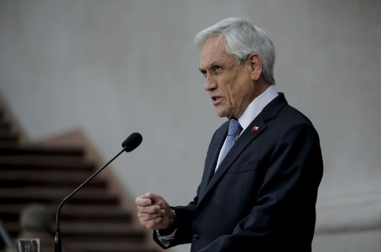'Não compartilho em absoluto à menção feita pelo presidente', disse Piñera em pronunciamento - Foto: Javier Torres l AFP