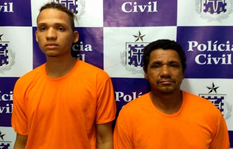 José Carlos Santos de Jesus (à dir.) e Carlos Eduardo Bispo de Jesus foram localizados em Mussurunga - Foto: Divulgação   SSP