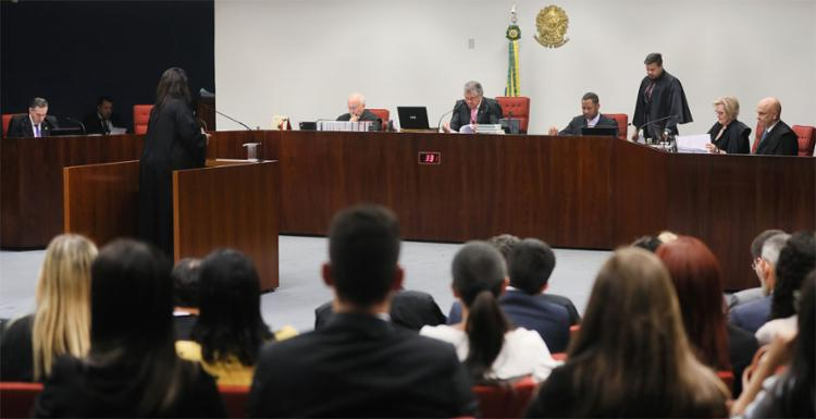 Na sessão desta terça-feira, 24, que durou cerca de cinco horas, foram ouvidos somente os advogados dos réus e os argumentos da Procuradoria-Geral da República (PGR) - Foto: Nelson Jr. l SCO l STF