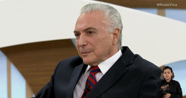 Temer afirmou que sempre teve bom relacionamento com Lula - Foto: Reprodução | TV Cultura