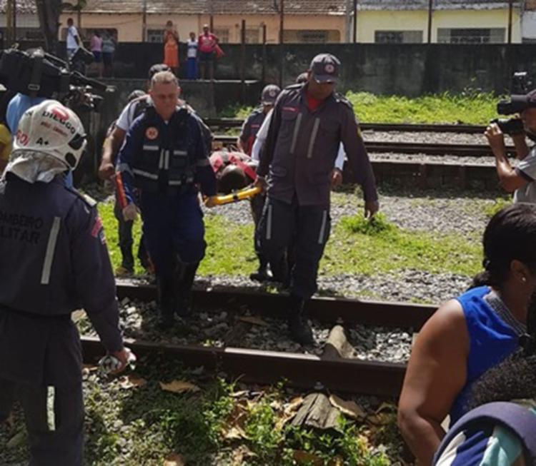 Divulgação   SSP-BA - Foto: Explosão foi na linha férrea da estação