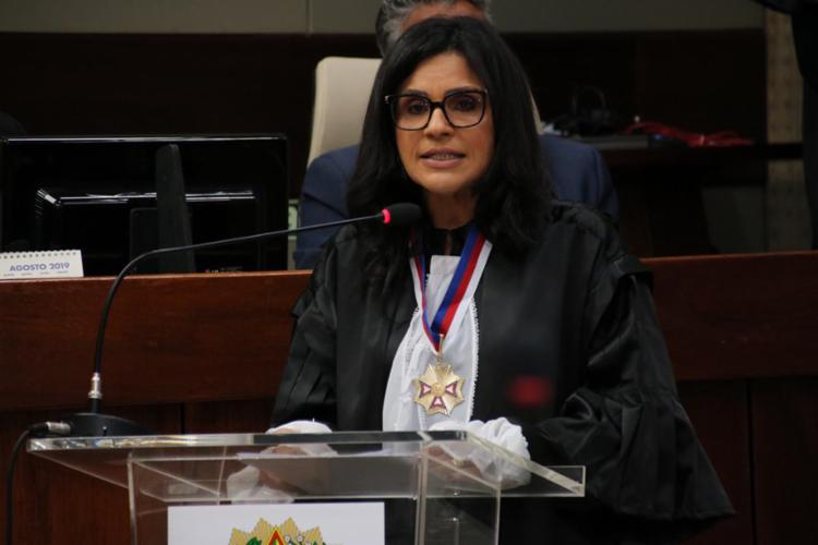 Sessão solene de posse aconteceu nesta segunda-feira, 23, no Pleno do Tribunal - Foto: Divulgação