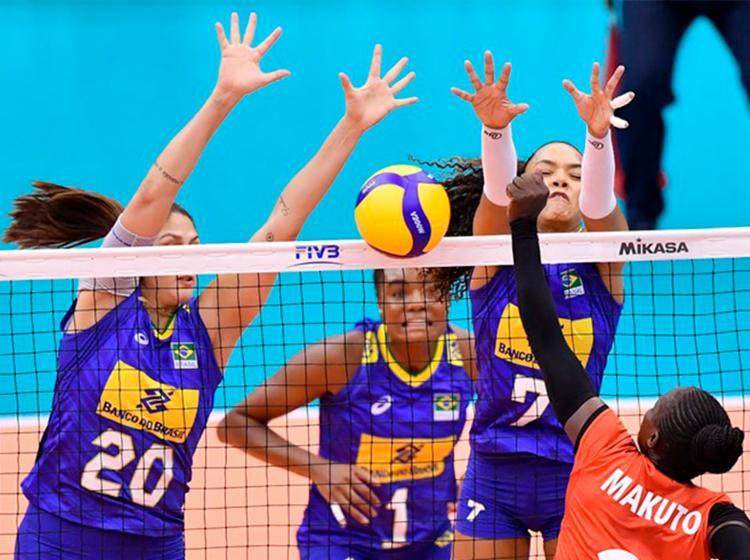 Brasil venceu o Quênia sem dificuldades e se recuperou da derrota para a Holanda - Foto: Divulgação   FIVB