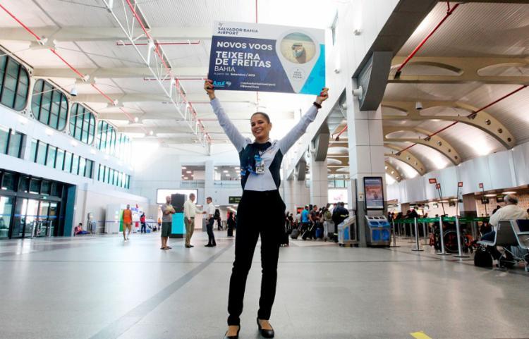 Lançamento foi comemorado com um receptivo especial aos primeiros passageiros - Foto: Paula Froes   GOVBA
