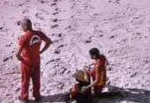 Corpo é encontrado na Praia de Placaford | Foto: Reprodução | TV Record