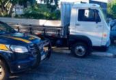 Caminhão de carga adulterado é apreendido na BR 324 em Feira de Santana | Foto: Divulgação | PRF