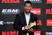 Messi recebe sua 6ª Chuteira de Ouro; a terceira consecutiva do argentino | Foto: Josep Lago | AFP