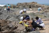 Voluntários retiram óleo em praias do Jardim de Alah | Foto: Joá Souza | Ag. A TARDE