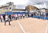 Praça e campo de futebol revitalizados são entregues no Cabula | Foto: Max Haack | Secom