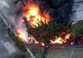 Galpão de escola de samba pega fogo em São Paulo | Reprodução l TV Band