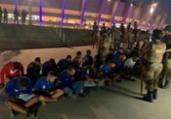 Torcedores são presos por invasão em jogo do Cruzeiro | Reprodução | TV Globo