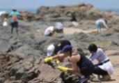 Voluntários retiram óleo em praias do Jardim de Alah | Joá Souza | Ag. A TARDE
