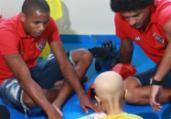 Martagão Gesteira recebe visita de jogadores do Vitória | Divulgação