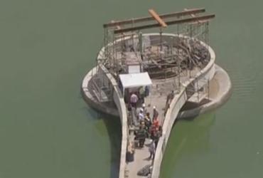 Explosão em obra na barragem da Pampulha, em BH, deixa feridos | Reprodução | TV Globo