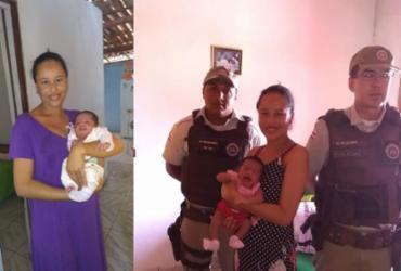 Policiais salvam bebê de apenas 18 dias no interior da Bahia | Divulgação | SSP/BA