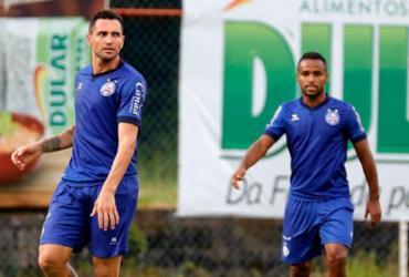 Gilberto e Élber treinam e estão à disposição contra o Flu | Felipe Oliveira | EC Bahia