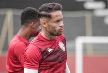 Volante Baraka volta a treinar com bola na Toca do Leão | Letícia Martins | EC Vitória