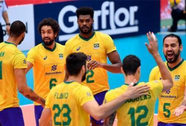 Seleção masculina de vôlei vence Tunísia e mantém folga na ponta | Divulgação | FIVB