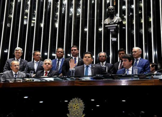 Senado Federal aprova texto-base da reforma Previdência por 60 votos a 19 | Roque de Sá | Agência Senado