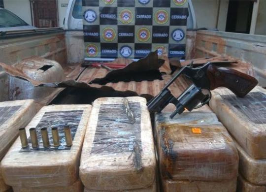 Mais de 80kg de pasta base de cocaína com imagem de El Chapo são apreendidos na Bahia | Divulgação | SSP-BA