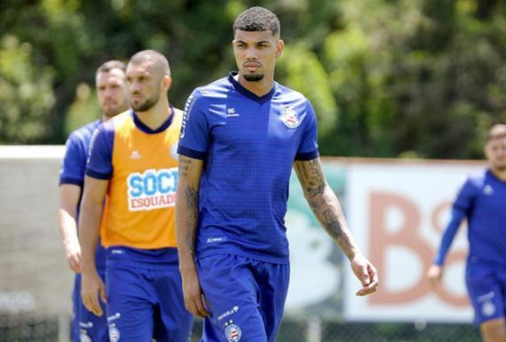 """""""A gente tem que manter o foco"""", diz Juninho sobre jogo com Ceará   Felipe Oliveira   EC Bahia"""