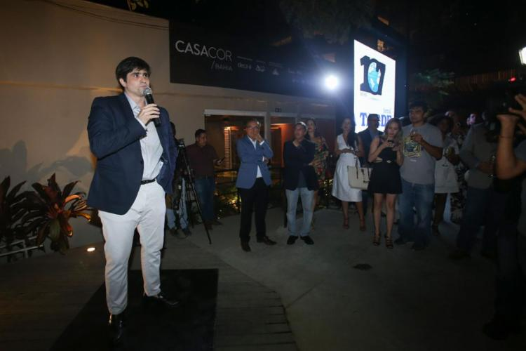 João de Mello Leitão (foto), presidente do Grupo A TARDE, e diretoria receberam grupo seleto de empresários, políticos e outros convidados - Foto: Raphael Muller | Ag. A TARDE