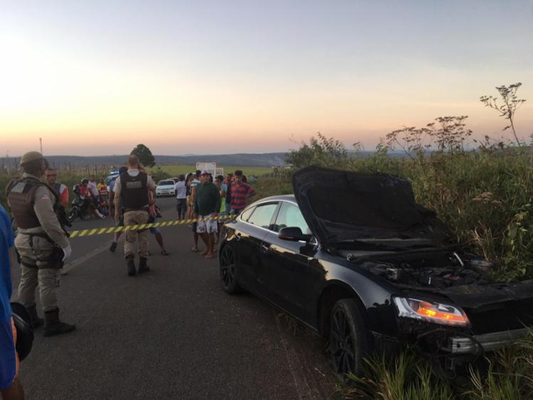Acidente aconteceu no trecho do município de Jaguaquara - Foto: Reprodução | Blog Marcos Frahm