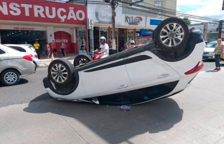 Veículo da vítima colidiu com o fundo de uma picape Montana - Foto: Paulo José   Acorda Cidade