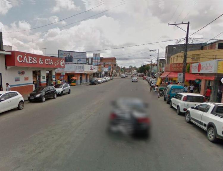 Caso aconteceu em Eunápolis, no bairro conhecido como 'Aeroporto' - Foto: Reprodução | Google Street View