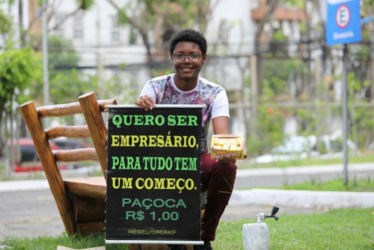 Wendell Ferreira já é bastante conhecido nas redes sociais - Foto: Joá Souza   Ag A TARDE