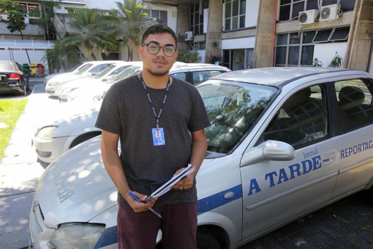 Estagiário Bruno Brito ficou surpreso ao saber que foi selecionado para integrar o Grupo A TARDE (Foto: Luciano da Matta | Ag. A TARDE)