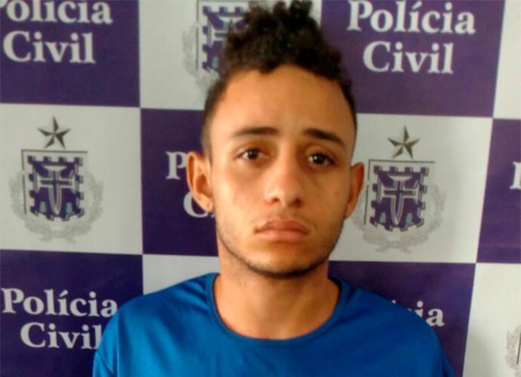 Jonata confessou que efetou os disparos que atingiu um segurança do carro-forte - Foto: Divulgação | SSP-BA