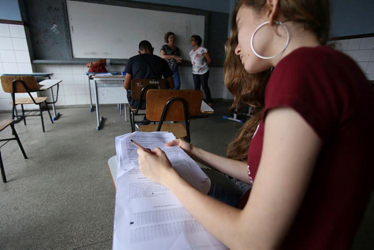 Conteúdo abordado abrange as quatro áreas de conhecimento do exame - Foto: Joá Souza | Ag A TARDE