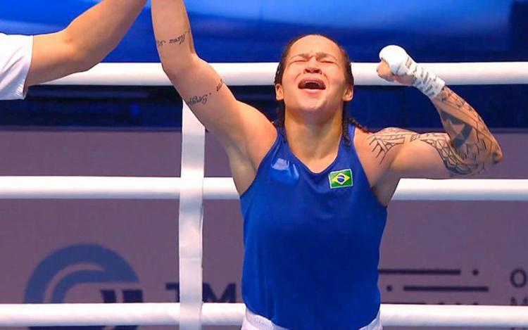 A pugilista baiana é apontada como favorita à medalha de ouro nos Jogos Olímpicos de Tóquio no ano que vem - Foto: Reprodução | CBBoxe
