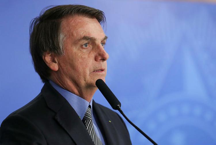 O presidente concedeu entrevista no Palácio da Alvorada - Foto: Marcos Corrêa   PR