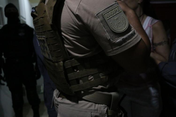 As equipes do Bope estavam voltando de uma reunião, quando avistaram o suspeito - Foto: Divulgação | SSP