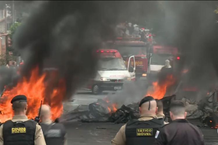 Acidente ocorreu na manhã desta segunda - Foto: Reprodução | TV Globo