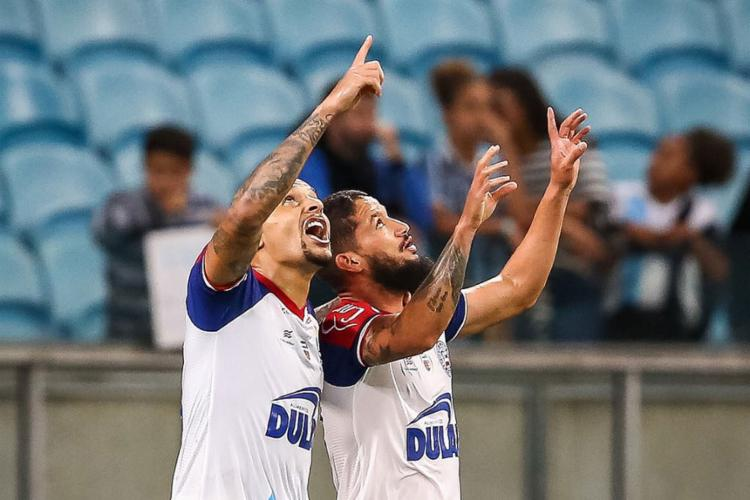 O atacante Arthur Caike marcou o único gol da partida - Foto: Reprodução   Twitter   @Brasileirao