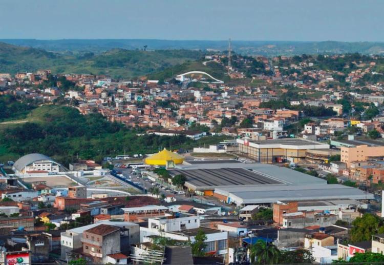 Vista panorâmica do município de Candeias - Foto: Gilmar de Oliveira l candeiasbahia.net l 24.11.2009