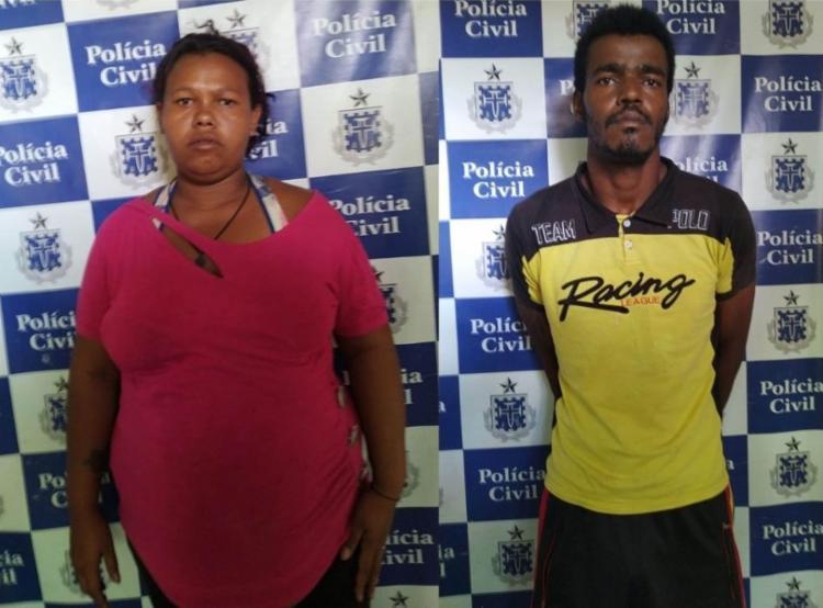 O casal foi autuado em flagrante e está à disposição da Justiça. - Foto: Divulgação