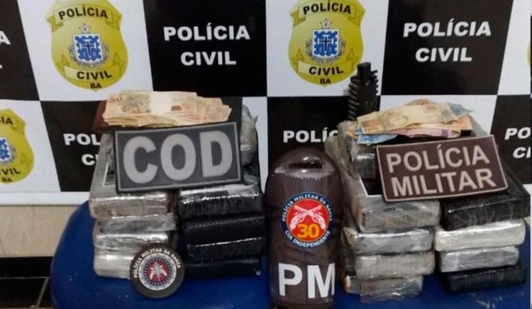 Paulo Henrique Benhocci Boaroli transportava a droga de São Paulo para Fortaleza - Foto: Divulgação   SSP