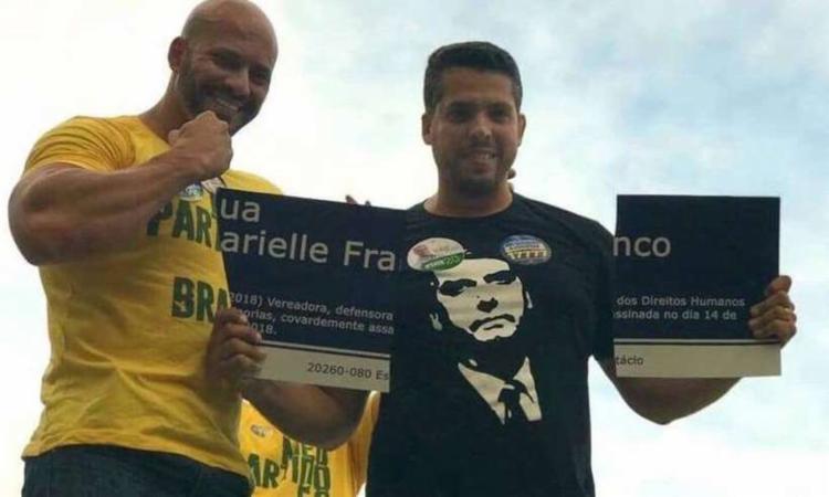 Deputados quebraram a placa durante campanha eleitoral de 2018 - Foto: Divulgação