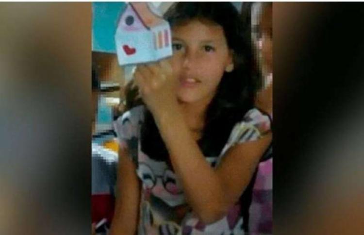 Suspeito de matar Raíssa é um adolescente de 12 anos - Foto: Reprodução