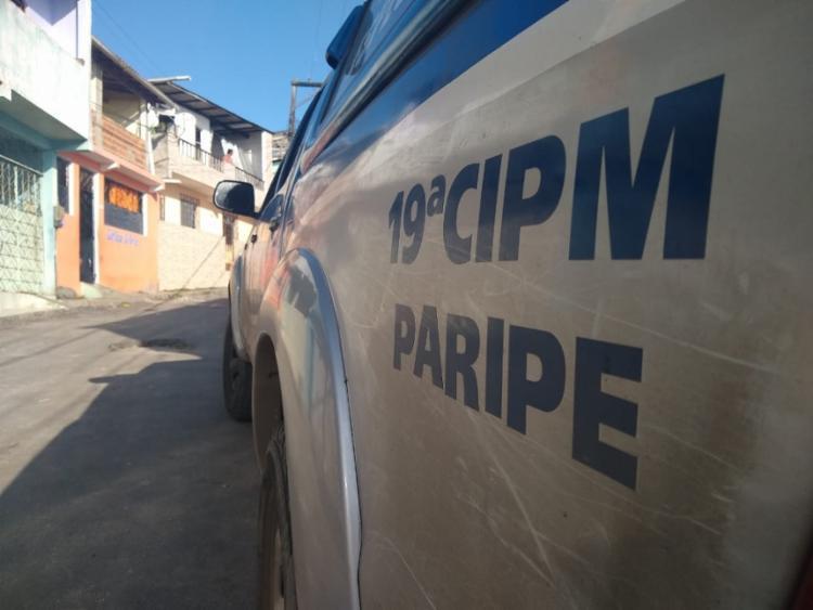 Policiais estiveram na cena do crime na tarde de domingo, 20. - Foto: Nicolas Melo | Ag. A TARDE