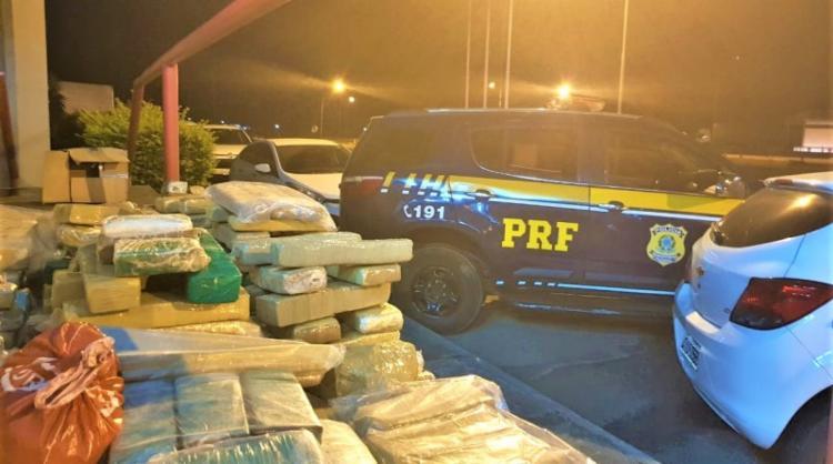 No ano de 2019, cerca de 10,2 toneladas de maconha já foram apreendidos pela PRF na Bahia - Foto: Divulgação | PRF