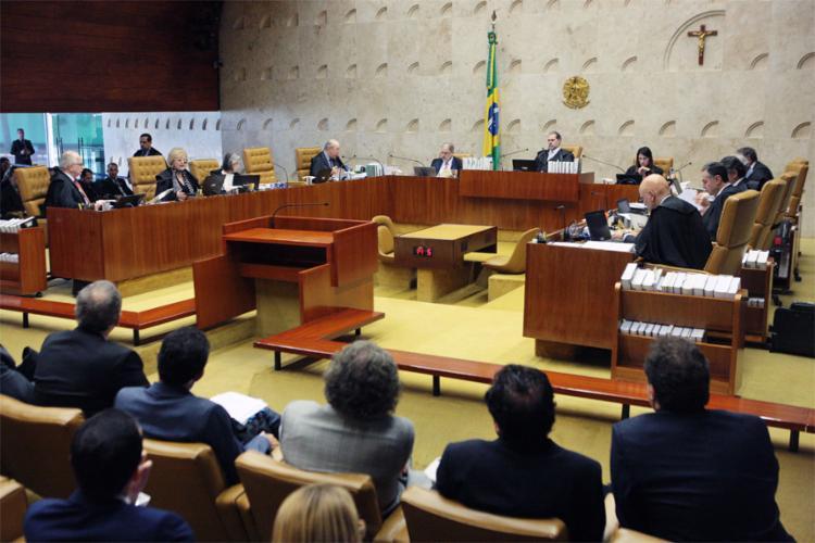 O presidente da Corte, Dias Toffoli, disse que a sessão deverá ser retomada em até duas semanas - Foto: Carlos Moura | SCO | STF